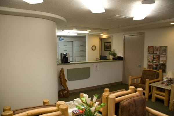 The front desk at Woods Family Dentistry